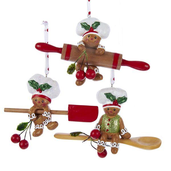 "4""GINGERBREAD ROLLER/SPOON/SPATULA #gingerbreadornaments"