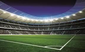 voetbal behang stadion - kinderkamer