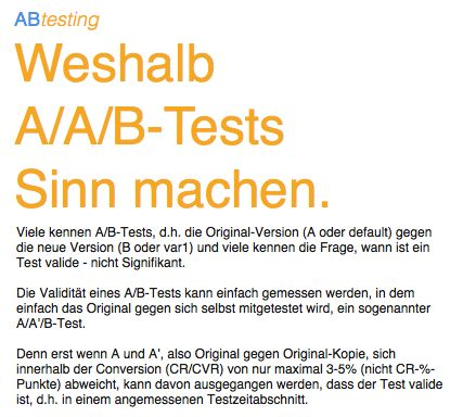 Weshalb A/A/B-Tests Sinn machen.