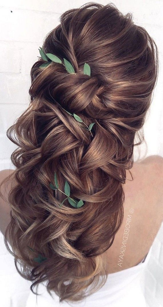 35+ Half Up Half Down Wedding Hairstyles for 2021 in 2020 ...