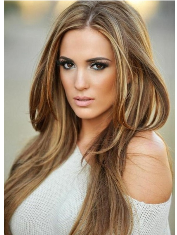 This is exactly the hair color I want!!! Light caramel with beigy caramel hi-lites!