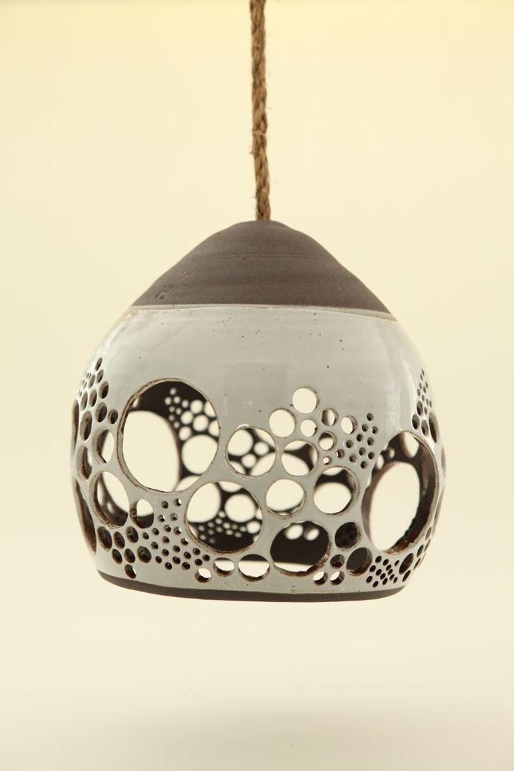 Ceramic Lamp • Cool idea. Upside down I like it as a luminary.