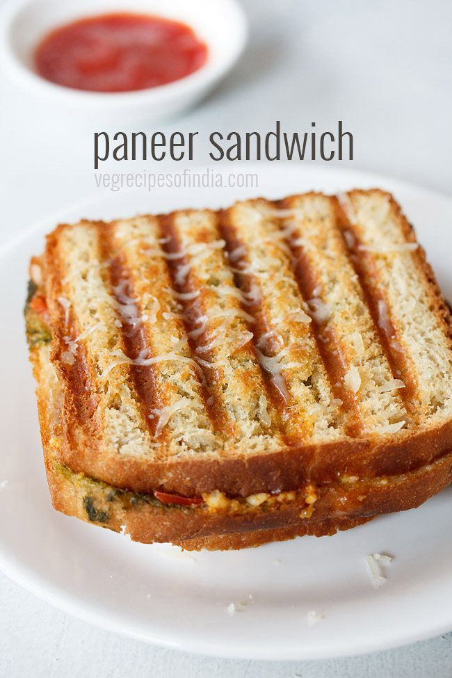 paneer sandwich recipe with step by step photos - simple and easy breakfast or snack idea of grilled paneer sandwich. the recipe shared is an indian style paneer sandwich which includes green chutn (Sandwich Recipes)