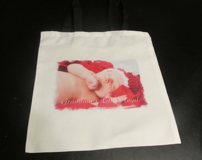 Personalized Tote Bag $16. Personalized with photo and/or text of your choice.  www.personalizeitforyou.com