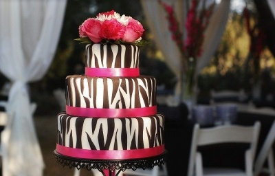 Zebra Print and Hot Pink Wedding By jamilyne on CakeCentral.com