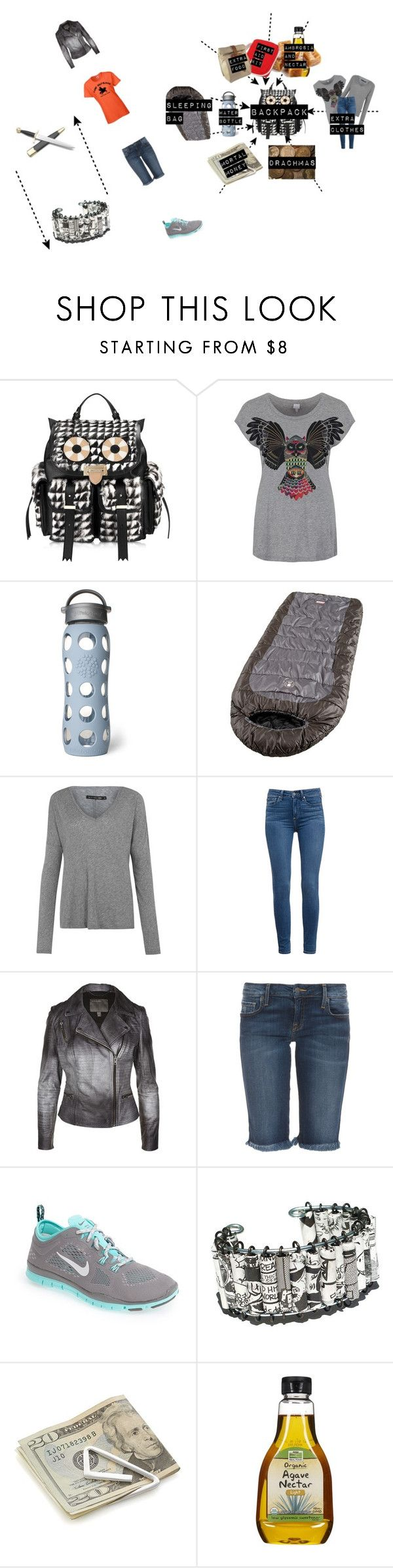 """""""Daughter of Athena:Quest"""" by nyssa-fire ❤ liked on Polyvore featuring Aspinal of London, Bench, Lifefactory, Coleman, rag & bone/JEAN, Paige Denim, MuuBaa, Genetic Denim, NIKE and Crate and Barrel"""