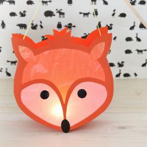Fuchs-Laterne für St. Martin und den Lichterumzug | Fox lantern for kids | KINNERTIED.de