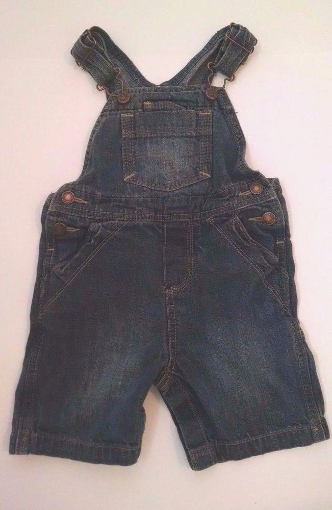 Oshkosh Bgosh 18M Baby Boy Denim Shortalls  #GenuineKids #Overalls #Everyday
