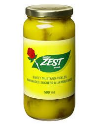 Zest Sweet Mustard Pickles