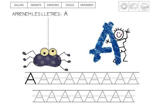 Fitxes imprimibles per treballar l'abecedari lletres de pal