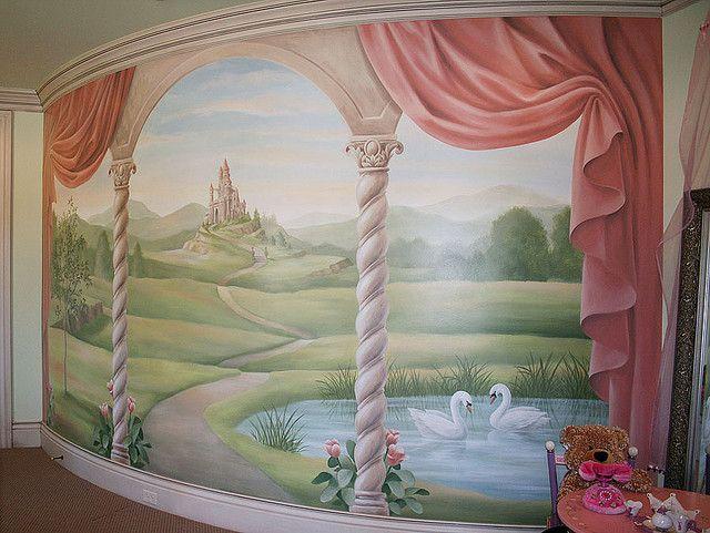Wall Murals For Bedroom best 25+ girls bedroom mural ideas on pinterest | wall murals