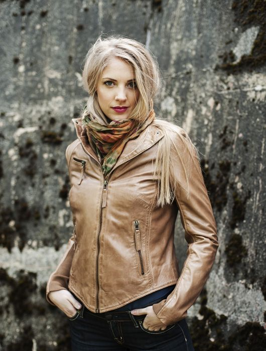 """Isa"" Classic biker leather jacket. AW-2013/14"