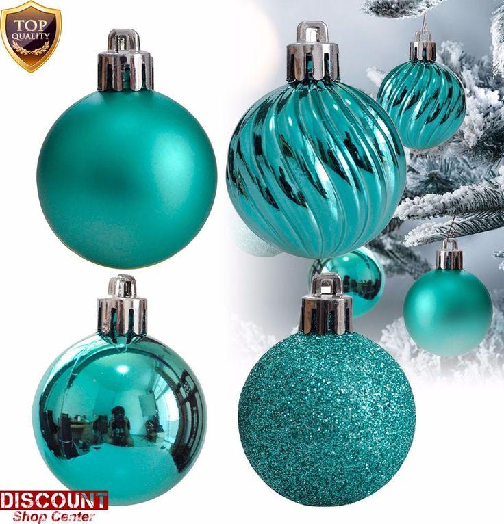 24Pack Teal Christmas Ornaments Balls Set Tree Decorations Hanging Xmas Holiday #KIStore