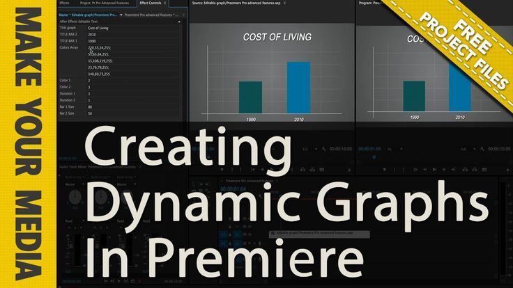 Free 2 Bar Graph Template For Premiere Pro (And After Effects)