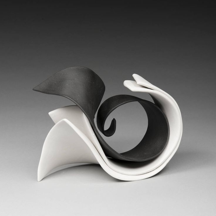 Artist: Elizabeth Kendall, Title: Black and White Pas De Deux ; Porcelain