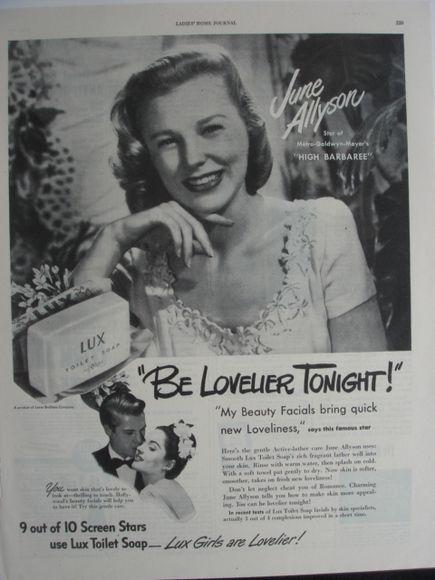 0 June Allyson lux soap ad