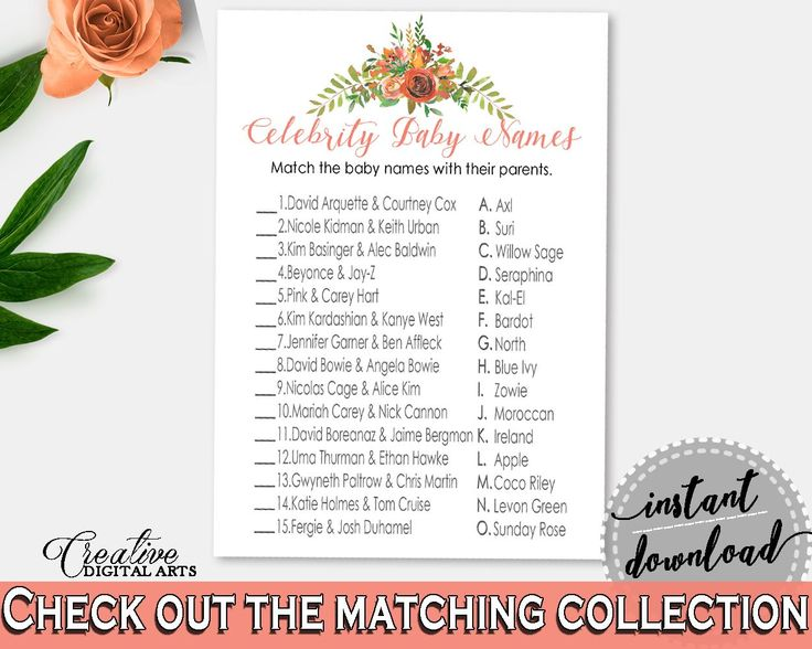 Celebrity Baby Names Baby Shower Celebrity Baby Names Spring Baby Shower Celebrity Baby Names Baby Shower Spring Celebrity Baby Names VH1KL - Digital Product baby shower baby shower party newborn mommy to be