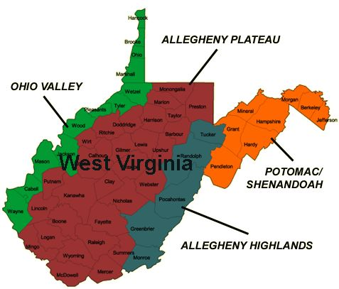 Best Wv Things Images On Pinterest Country Roads West - Map of west virginia and ohio