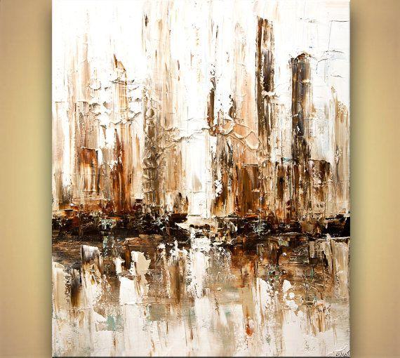 Abstracto pintura arte de textura pesada espátula por OsnatFineArt