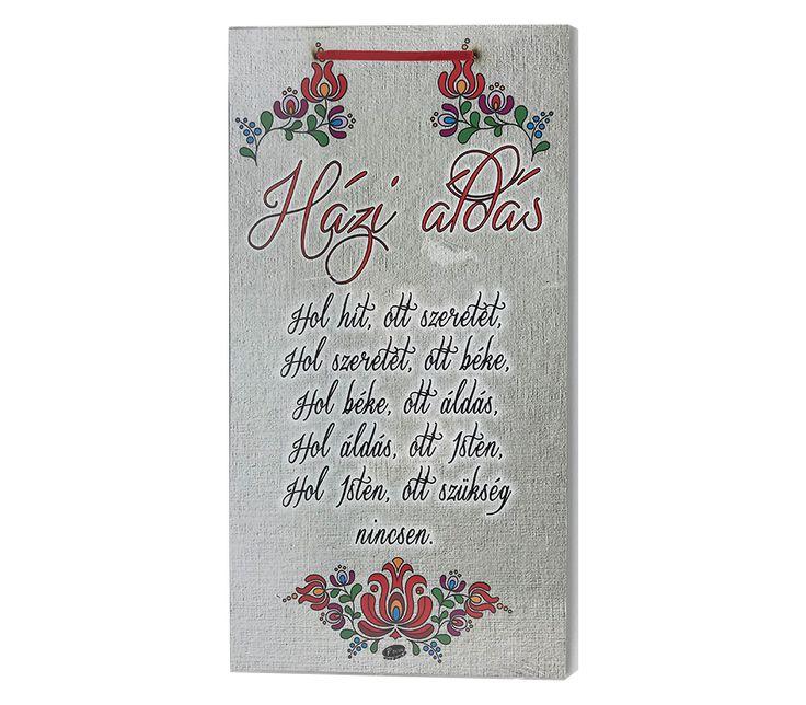Szöveges Fa Fali Tábla - Házi Áldás - Adiel.hu #minta #vicces #szöveg #dekoráció #fal #fatábla