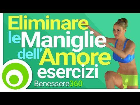 Maniglie dell'Amore in Piedi. Esercizi per Eliminare il Grasso sui Fianchi e Ridurre il Girovita - YouTube