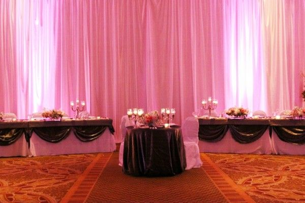 Combo sweetheart table and bridal party