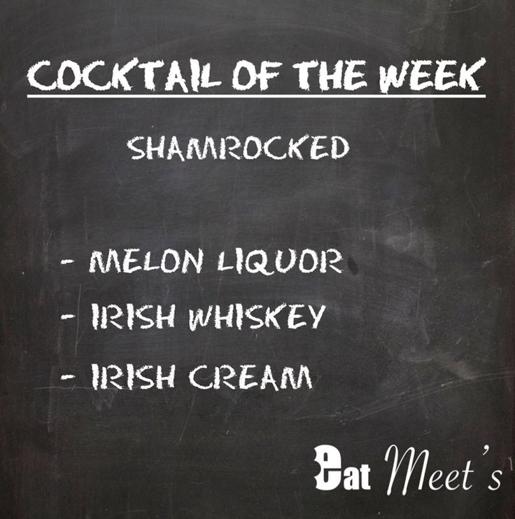 ! - Cocktail of the week - ! Today's cocktail : Shamrocked #cocktail #cocktailhour #happyhour #cocktailtime #afterwork #meetup #meetfriends #homemade #recipes