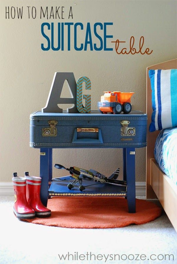 While They Snooze: How to Make a Suitcase Table