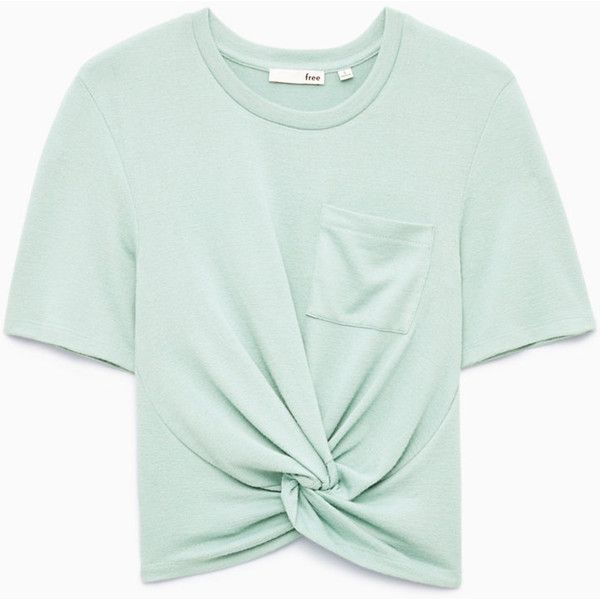 subah t-shirt Aritzia ($40) ❤ liked on Polyvore featuring tops, t-shirts, green top, green tee and green t shirt