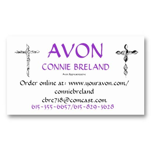 Best Order Avon Business Cards Images On Pinterest Avon - Avon business card template