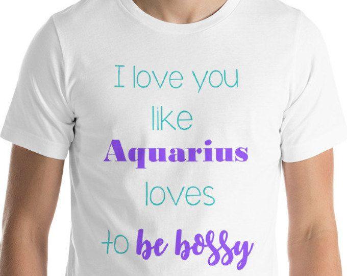 304eab65 Zodiac Tshirt- Aquarius Sign Tshirt- Men/Women Tee- Gift for him/her ...