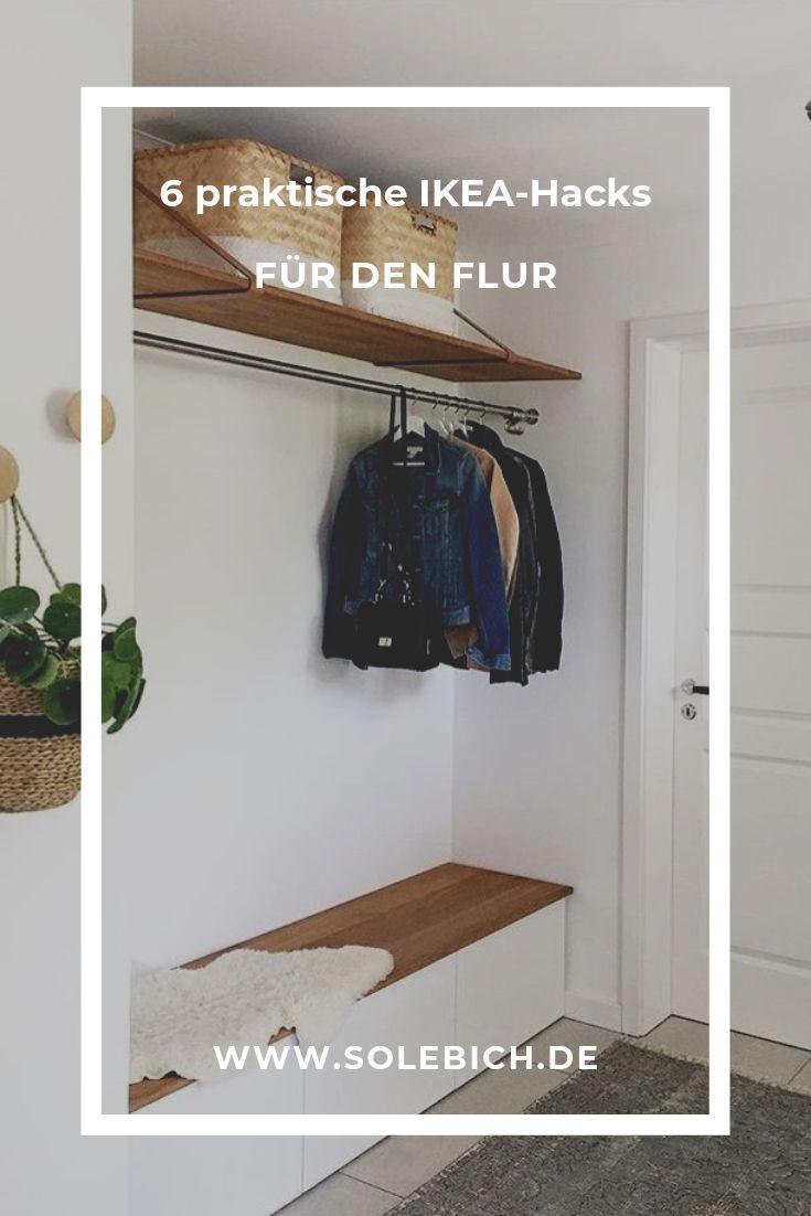 6 praktische IKEA-Hacks für die Halle! Foto: houseno8 #solebich #flur #ikea #ik …   – Flur & Garderobe – Ideen zum Gestalten