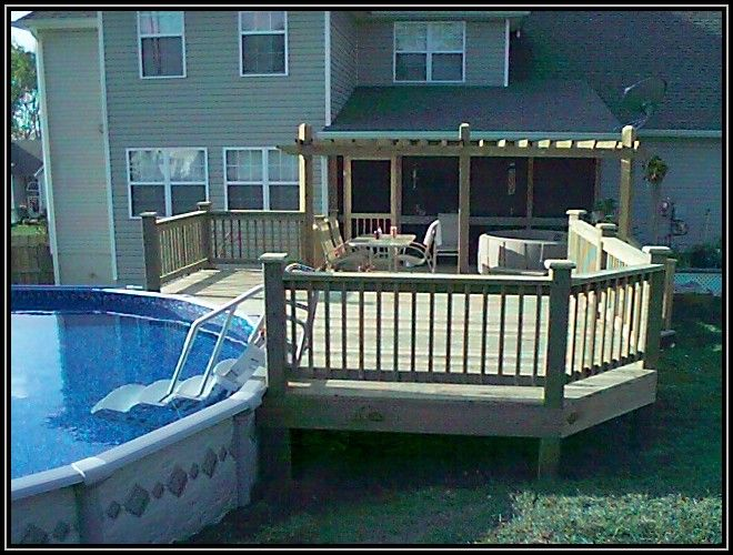 Above Ground Pool Decks From House pictures of above ground pools with decks around it - creditrestore