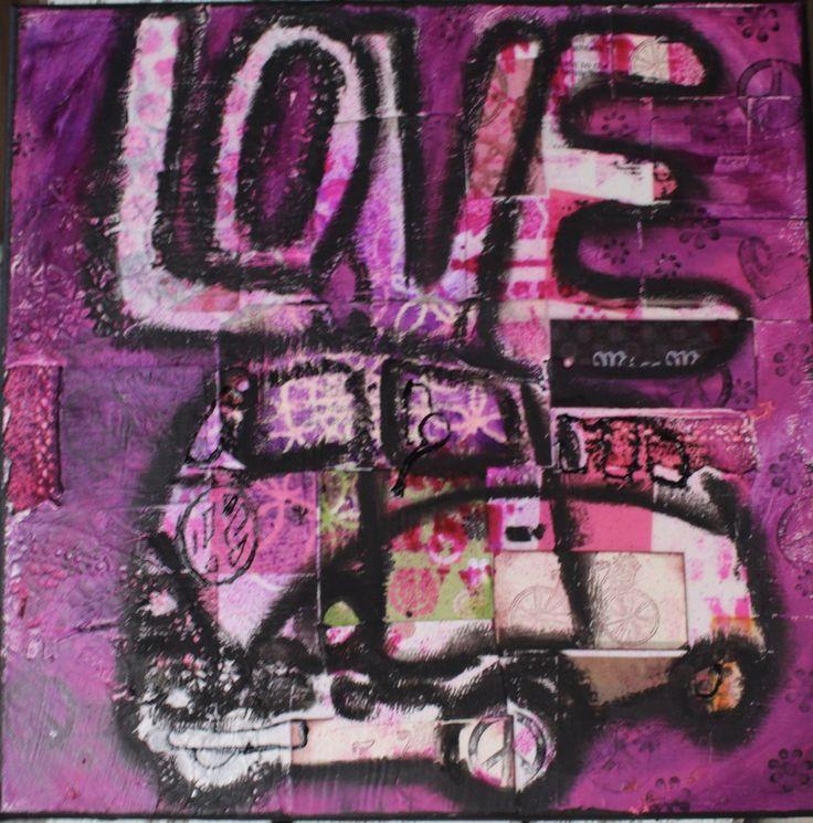 VW bus LOVE van card