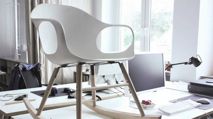 Kristalia preview of products that will presented during the upcoming Salone del Mobile Milan 2013.  Rama chair, Elephant rocking chair, Thin-k wood table, Boum in black chair, Thin-k long table, BCN coffee table, Blio Service bookcase, Boiacca Wood table.