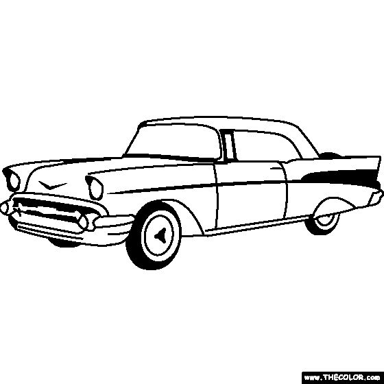 chevrolet bel air 1955 coloring page