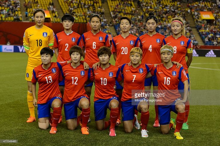 Korea Republic poses for a team photo during the 2015 FIFA Women's World Cup Group E match against Costa Rica at Olympic Stadium on June 13, 2015 in Montreal, Quebec, Canada.