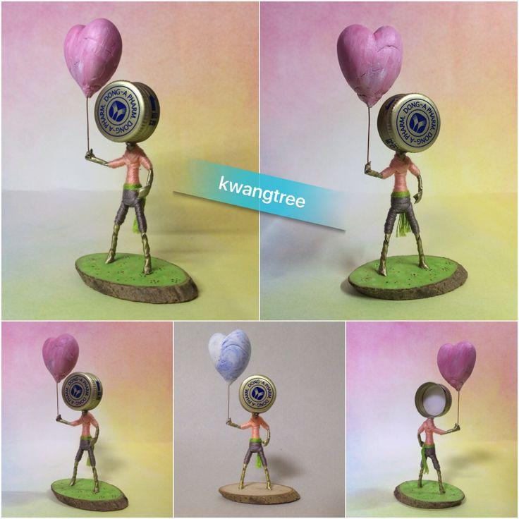 하트 풍선 2015년 7월 12일 #병뚜껑공예 #병뚜껑아트 #뚜껑맨 #BottleCapArt #BottleCapCrafts #瓶盖艺术 #瓶盖人 #ビンの栓芸術 #피규어 #Figure #フィギュア #人偶 #手办 #미니어쳐 #Miniature #小模型 #ミニアチュア #풍선 #Balloon #气球 #동아제약