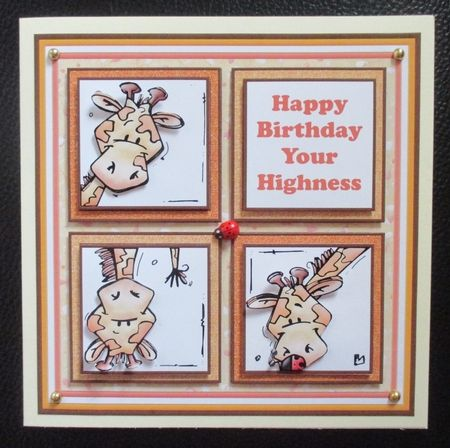 HAPPY BIRTHDAY YOUR HIGHNESS 7.5 Humorous Quick Layer Card Mini Kit - CUP866619_68 | Craftsuprint