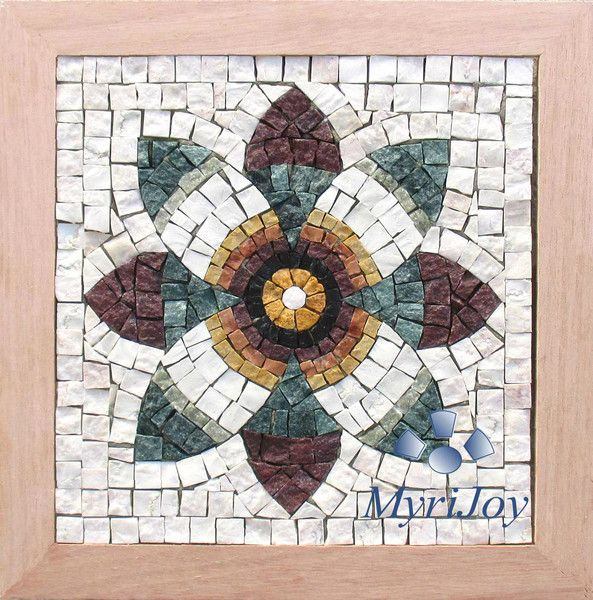 Mosaic Craft Kit Pomegranate Flower