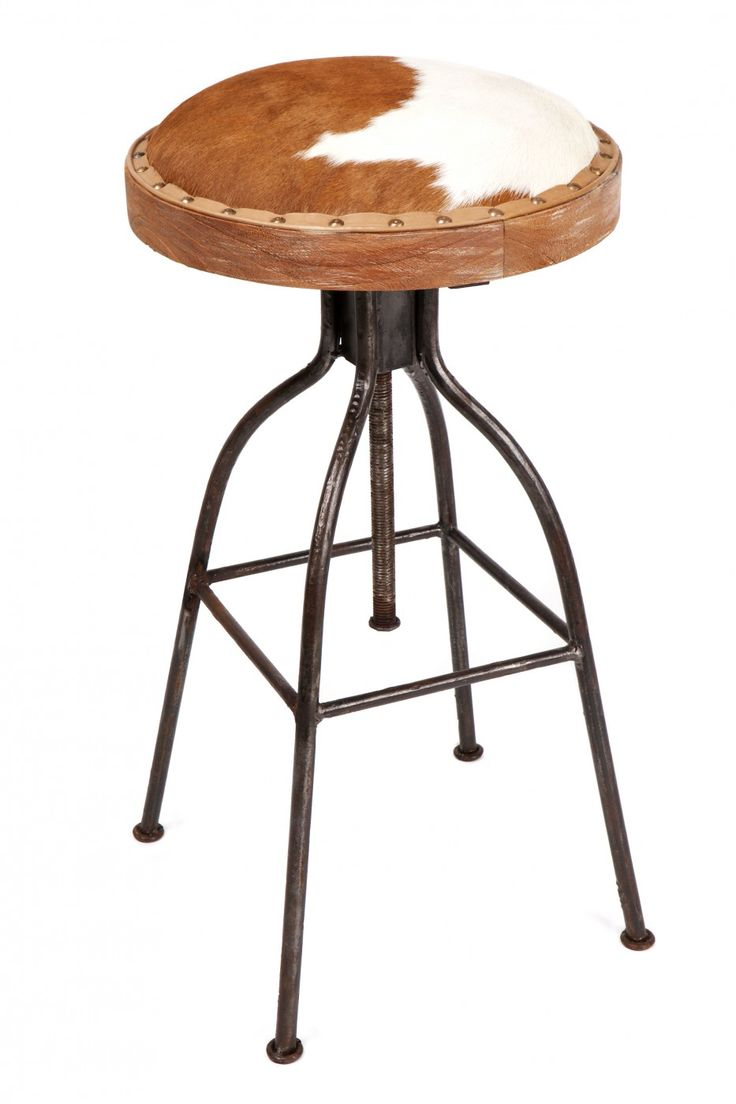 Jefferson Cowhide Barstool Brownwhite 20copy Accessories