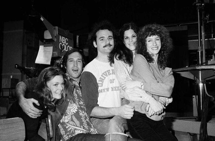 Jane Curtin, Chevy Chase, Bill Murray, Gilda Radner and Laraine Newman | Rare, weird & awesome celebrity photos