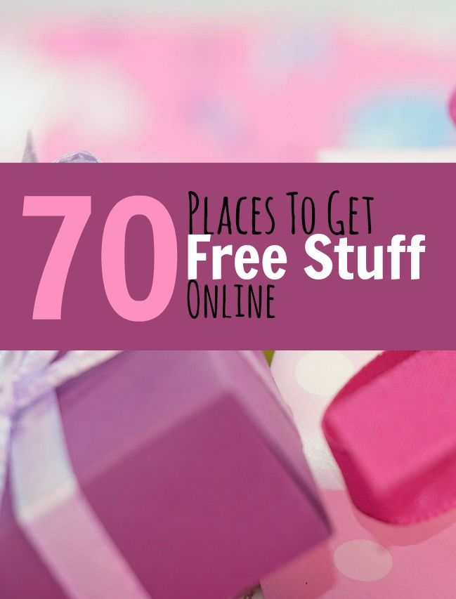 The internet is a great place to find free stuff . . . here's a list of 70 Places to Get Free Stuff Online