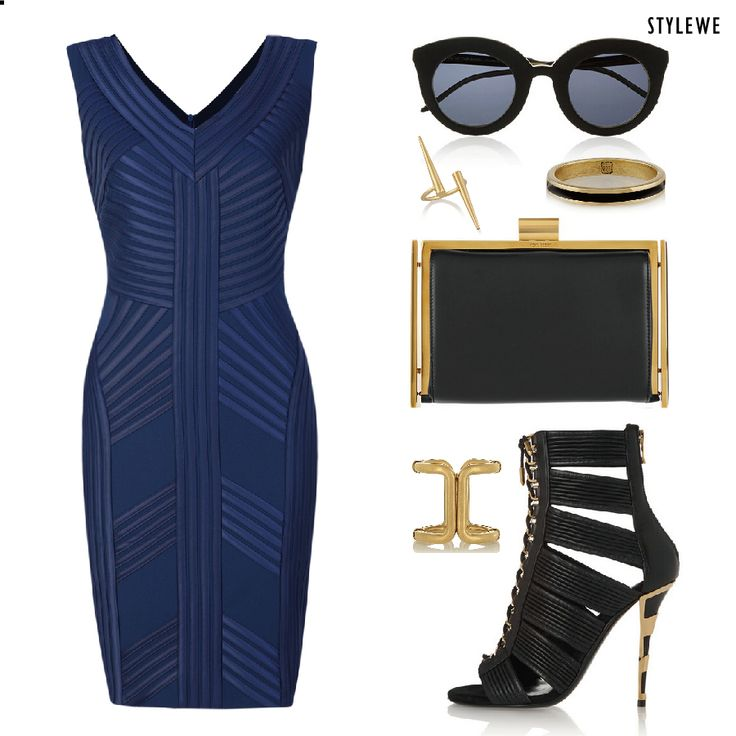 Blue + Black = Forever #dress #fashion #stylish #trendy #beautiful