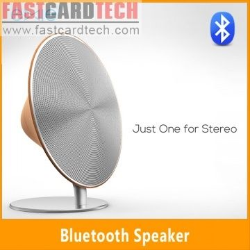 Solo one Wireless Speaker-Portable NFC Bluetooth Speaker Home Stereo Smooth Wood Touchscreen