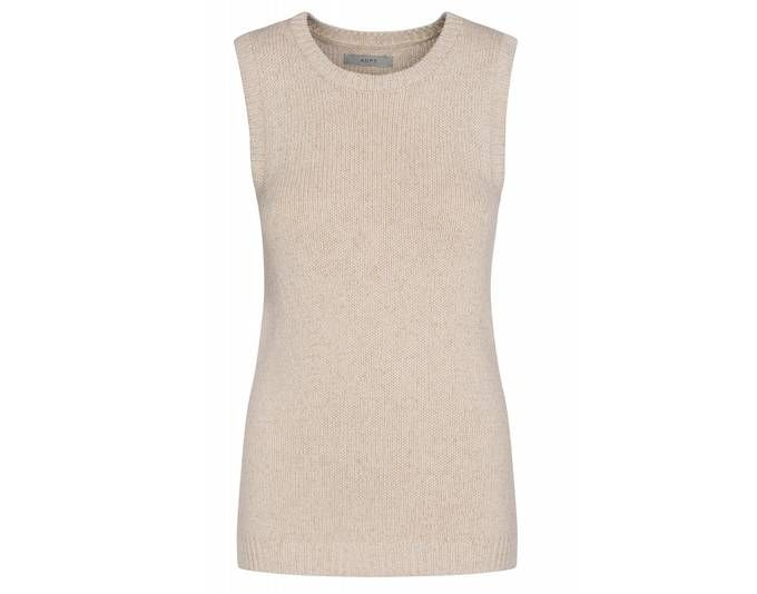 ADPT. Brookly Knit Top Shirt Damen Strick-Pullunder Kurzarm-Pullover Beige im schlichten Look [Größ Jetzt bestellen unter: https://mode.ladendirekt.de/damen/bekleidung/pullover/pullunder/?uid=7445145a-c19b-5746-bb2d-cf3a826ca6cd&utm_source=pinterest&utm_medium=pin&utm_campaign=boards #pull #pullover #bekleidung