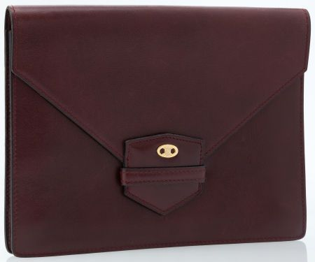 Celine Burgundy Leather Envelope Clutch Bag | Emmanuelle Khanh ...