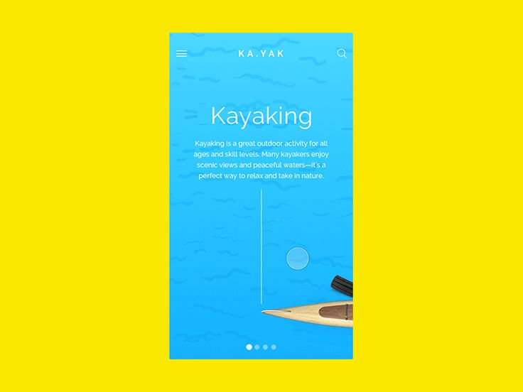 KA.YAK | iOS App UI Interaction