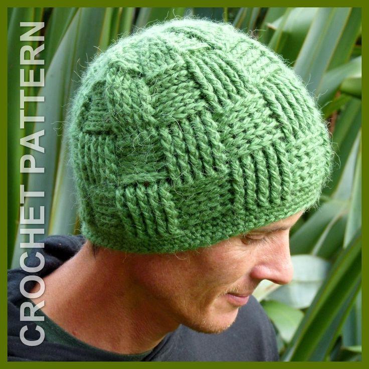 Basket Weave Beanie crochet pattern in sizes NB - Adult. https://www.etsy.com/nz/listing/192971272/crochet-hat-pattern-instant-download?