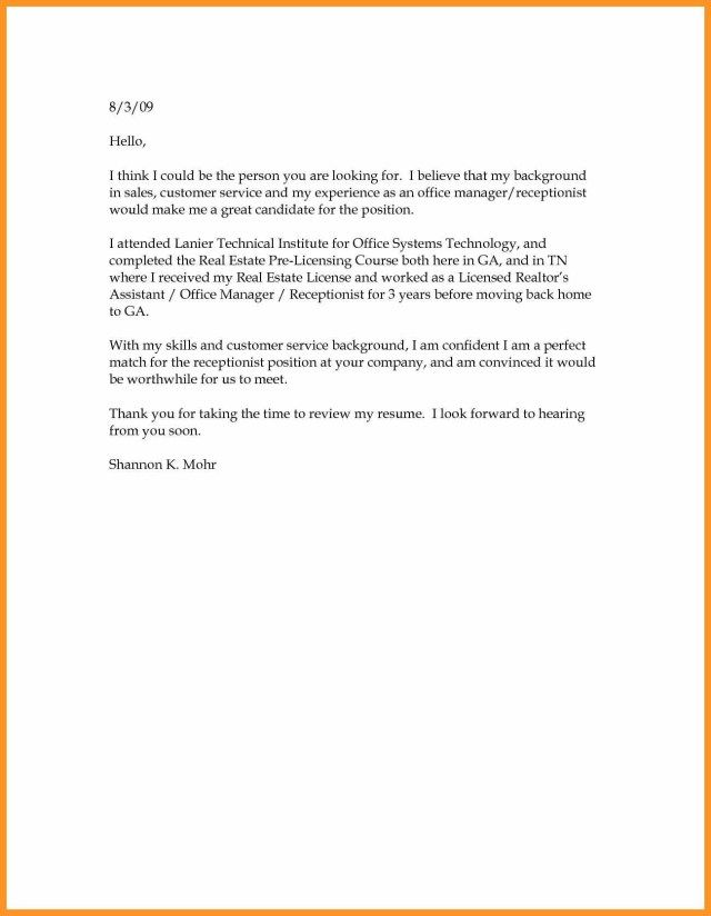30 Simple Cover Letter For Resume Simple Cover Letter For Resume